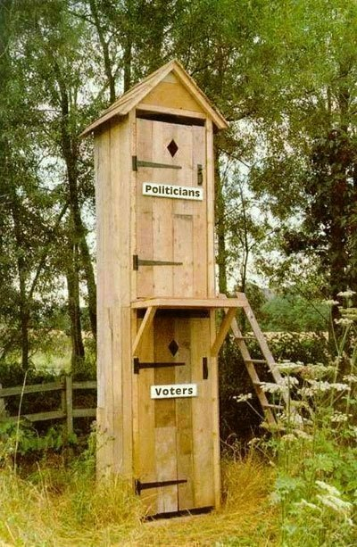 The two story outhouse