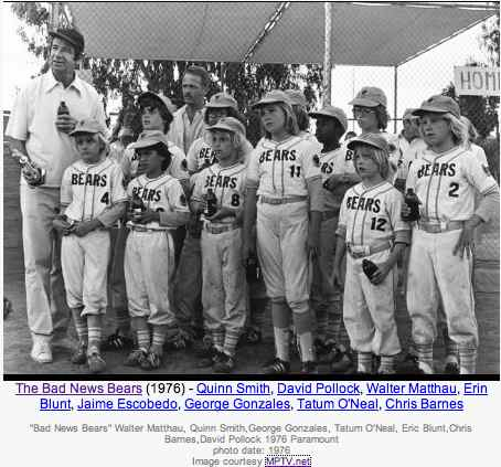 Photo from IMDB site of Bad News Bears
