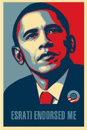 Obama poster: Esrati Endorsed Me
