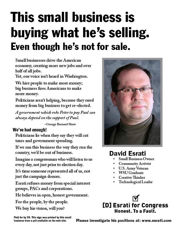 Esrati small business flyer