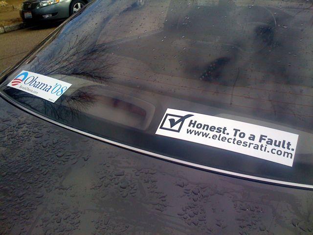 Elect Esrati Bumper Sticker photo