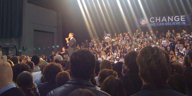 Barack Obama at the Nutter Center in Dayton OH 25 Feb 2008