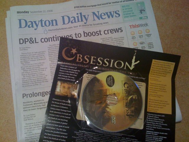 Obsession, Radical Islam's war against the West delivered by the Dayton Daily News Sept. 22, 2008