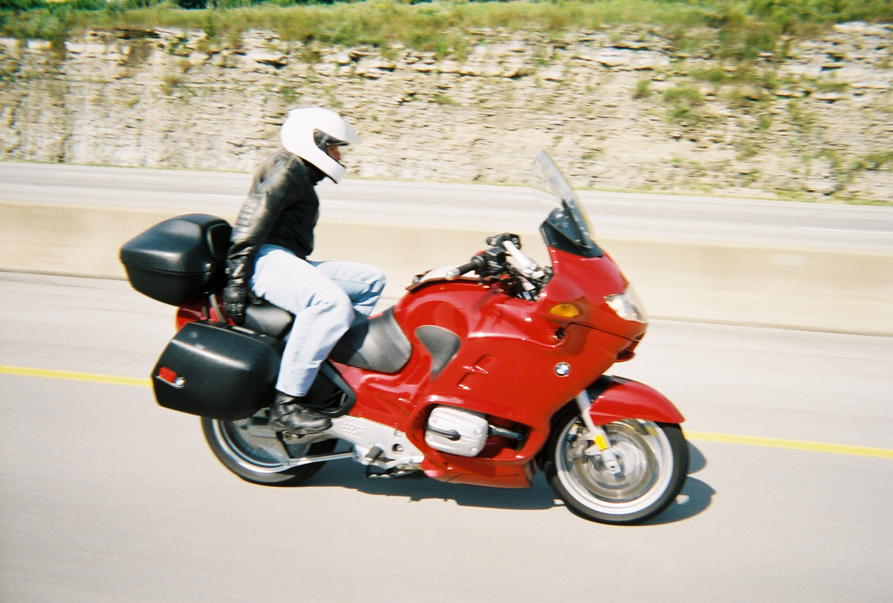 Allan Howard on his BMW- do as he say's, not as he rides.