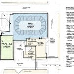 Site plan for proposed new Downtown Dayton Ice Arena on Dave Hall Plaza
