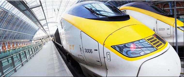 The Eurostar train