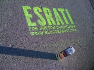 Spray Chalk Tagging the message