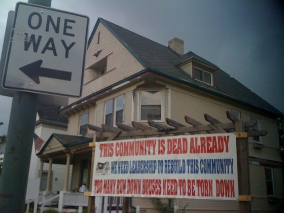 Sign on North Main Street Dayton