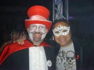 David Esrati with Manish Aqarwal at Masquerage 09