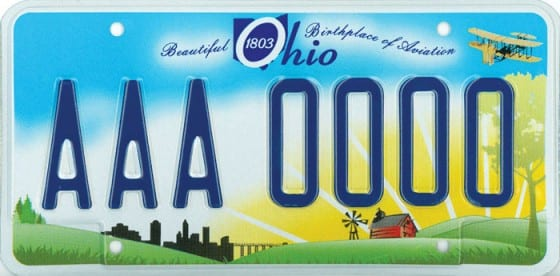 "Ohio ""Beautiful"" design for license plates, 2010"