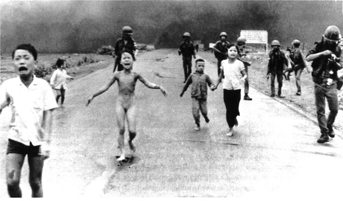 Associated Press photograph that won the Pulitzer Prize for spot news. It was taken by Nick Ut on June 8, 1972.