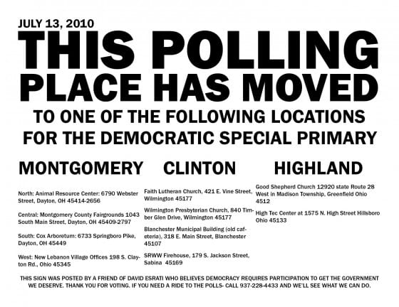 Polling places PDF for print