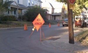 Men Workign sign