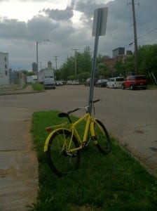 A Yellow Bike in Dayton