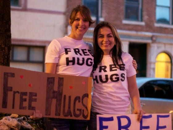 Free Hugs panhandlers in the Oregon District