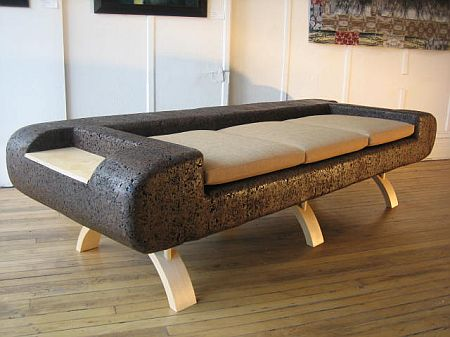 Cork Sofa/divan by Trevor O'Neil