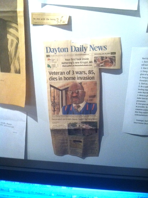 Dayton Daily News cutting about SGM Woodall Murder