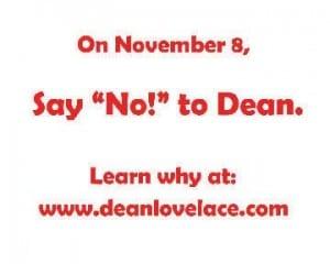 Anti-Dean Lovelace ad created by David Lauri
