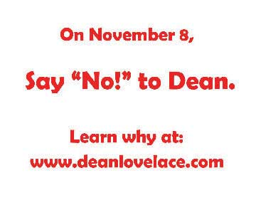 Anti-Dean Lovelace ad created by David Lauri