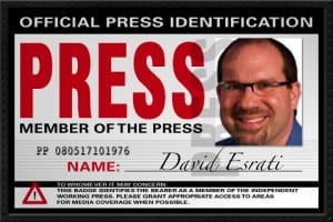 Fake Press ID for David Esrati