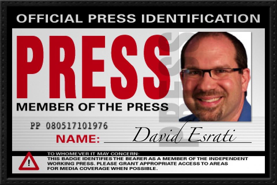 Fake Press ID for David Esrati