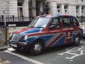 London Calling Taxi Wrap for vodaphone in London