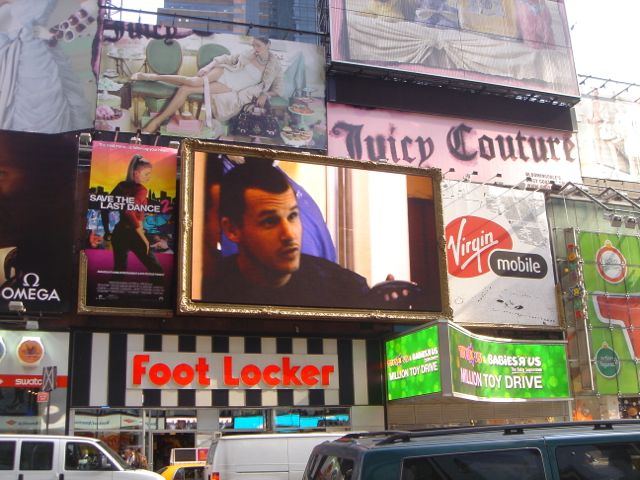 NYC and Times Square looks like a madhouse of outdoor
