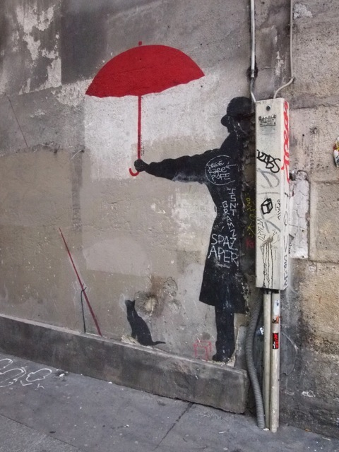 Street art from Rue du Chat-Qui in Paris