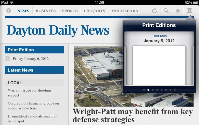 No News for you - Dayton Daily News iPad edition fail