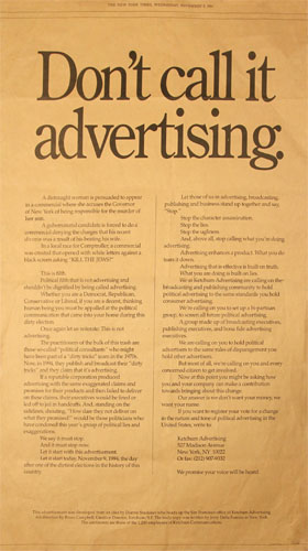 Click on image to download PDF of Don't Call It Advertising