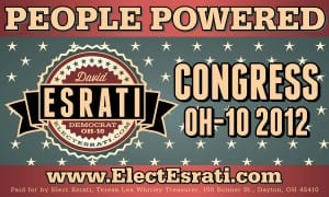 David Esrati campaign banner for Congress OH10 2012