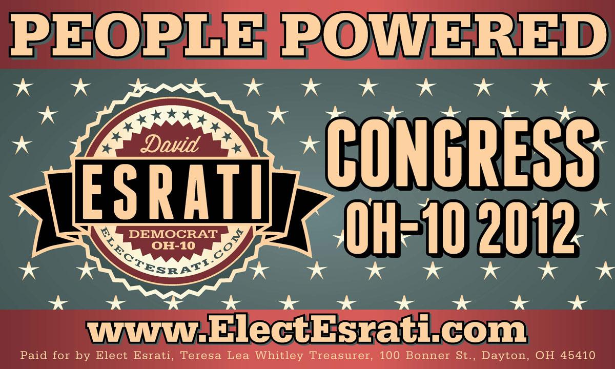 David Esrati campaign banner for Congress OH10 2012