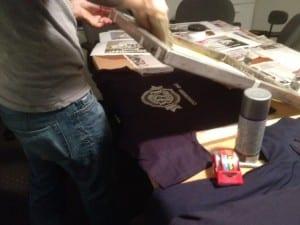 screen printing esrati for congress shirts
