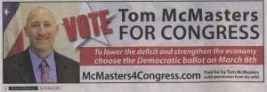Tom McMasters DCP ad