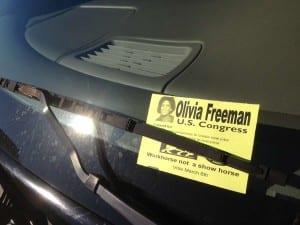 Olivia Freeman congress OH-10 car flyer