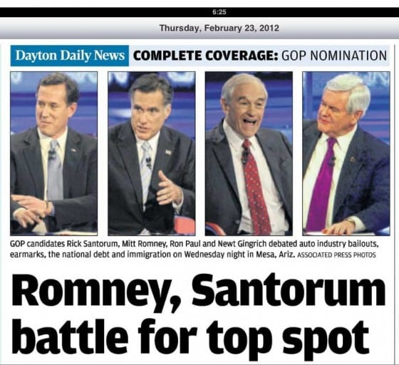 Media bias in choice of photos of Republican Presidential primary coverage