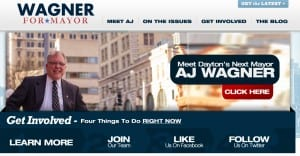 Screen Shot of AJ Wagner for mayor site