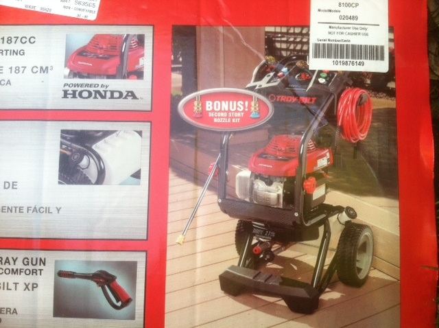 Stolen Troy Built Pressure Washer with Honda engine