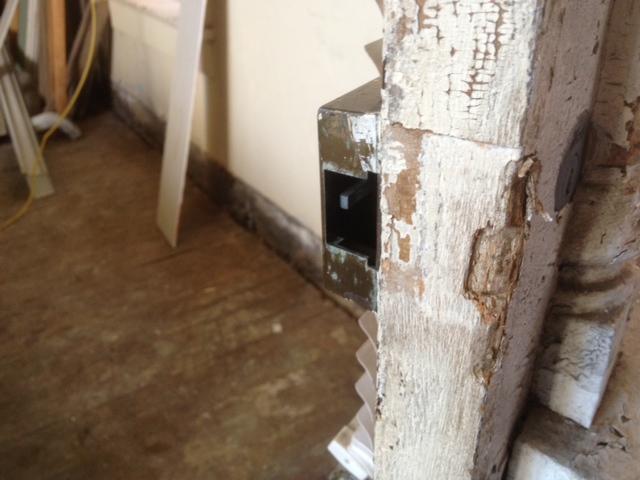 door lock missing bolt