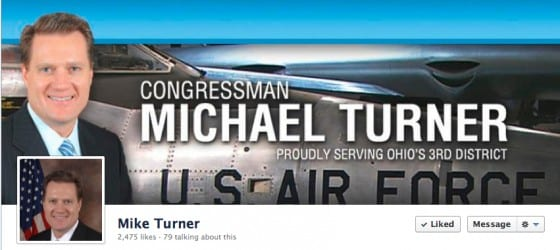 Facebook header photo that would make you think Mike Turner served in The Air Force