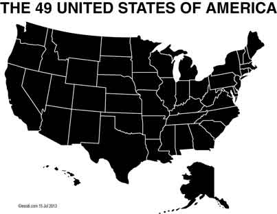 Image created by David Esrati - the 49 United States of America
