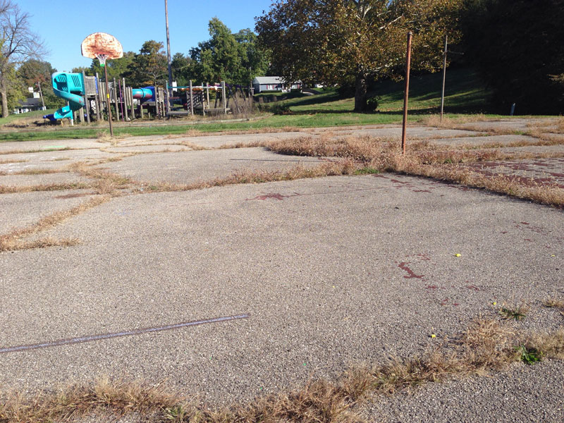 Photo of Orville Wright park before Esrati and Crew cleaned it up
