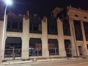 Photo by David Esrati of the demolition of the Dayton Daily News building 1923 addition