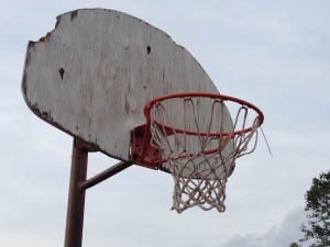 photo by David Esrati of backboard at Princeton Recreation center in Dayton