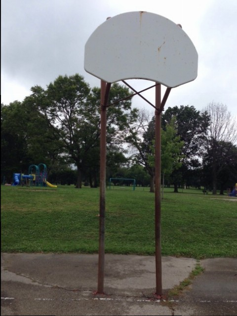 Rimless backboard in Dayton Ohio