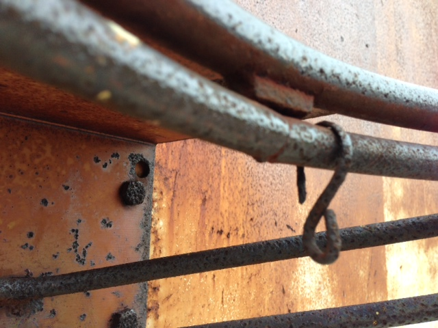 Rusted rims in Dayton built for chains
