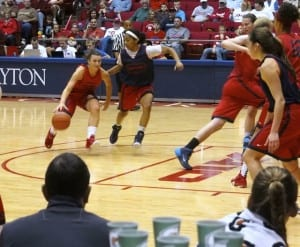 Andrea Hoover University of Dayton Women's basketball player