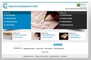 Dayton Municipal Court site screen shot