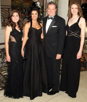 Congressman Mike Turner poses for a photo with his fiancee, Majida Mourad, and his daughters Carolyn, left, and Jessica at the Dayton Art Institute's Art Ball 2015 on June 13. E.L. HUBBARD / CONTRIBUTED