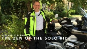 David Esrati, 6800 mile solo motorcycle ride